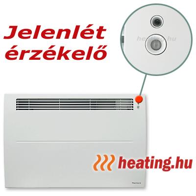 A jelenlét érzékelővel ellátott fűtőpanel automatikusan felismeri, ha a helyiség használatban van.