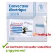 Az 1000 W-os Bonjour 2 mobil elektromos radiátor kiszállítási díj nélkül, futárszolgálattal jut el Önhöz.