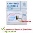 Az 500 W-os Bonjour 2 mobil elektromos konvektor kiszállítása teljesen ingyenes.