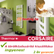 A Thermor Corsair elektromos törölközőszárító kiszállítása ingyenes.