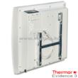 Az 1000 W-os Thermor Evidene 3 HD elektromos radiátor fali szerelőkerettel és készre szerelt villásdugóval kerül forgalomba.
