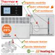 A Thermor Evidence 3 HD programozható fali fűtőpanel a külön rendelhető lábkészlettel mint mobil elektromos radiátor is használható!