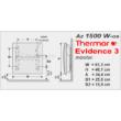 A Thermor Evidence 3 HD energiatakarékos fali fűtőpanel digitális kezelőfelülettel és gyári tartókerettel kerül forgalomba. A külön rendelhető lábkészlet segítségével mint mobil elektromos radiátor is használható!