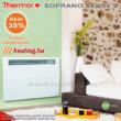 A Soprano Sense 2 HD fűtőpanel energiatakarékos és szép is egyben.
