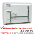A Thermor Soprano Sense 2 HD elektromos radiátor a vezetékkel és a fali tartókerettel.