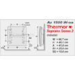 Az 1500 W-os Thermor Soprano Sense 2 HD elektromos radiátor főbb méretei