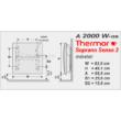 A Thermor Soprano Sense 2 elektromos radiátor méretei