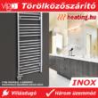 A Vigo INOX elektromos törölközőszárító radiátor fürdőszobában felszerelve.