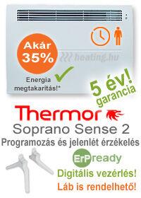 ErP ready Soprano Sense 2 elektromos fűtőpanelErP ready Soprano Sense 2 elektromos fűtőpanel heti időzítéssel, jelenlét érzékelővel és kettős hatással.