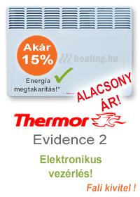 Thermor Evidence 2 fali elektromos radiátor elektronikus vezérléssel.