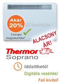 Thermor Soprano HD kettős hatású elektromos fűtőpanel beépített időzítővel,
