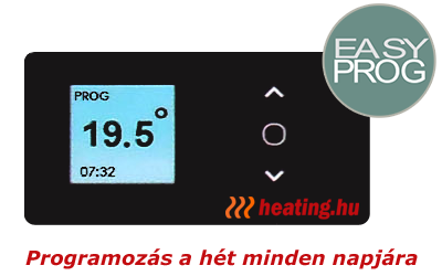A digitális fűtőpanel napi programozásával az elektromos fűtés takarékosabb.