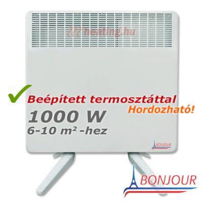 Bonjour 2 mobil elektromos konvektor 1000 W teljesítménnyel.