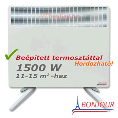 Bonjour 2 1500 W-os hordozható elektromos konvektor.