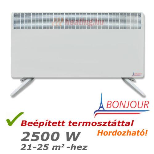 Nagy teljesítményű, 2500 W-os Bonjour 2 mobil villanyradiátor.