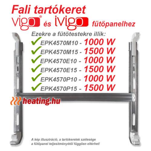 Fali tartókeret 1000 és 1500 W-os Vigo fűtőpanelhez.