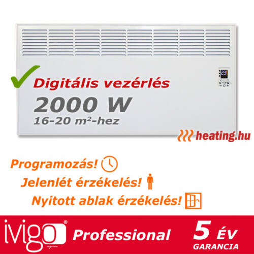2000 W-os Ivigo Professional, profi elektromos konvektor.