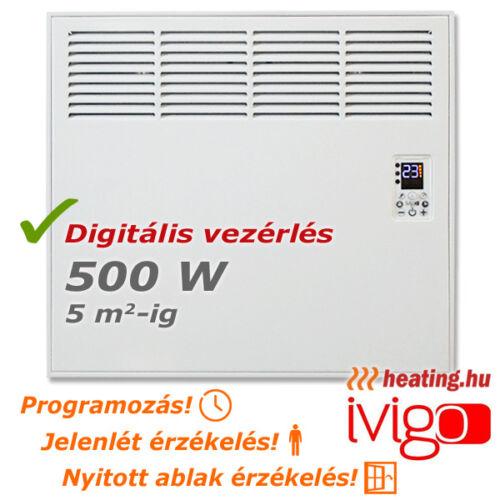 Ivigo Professional programozható elektromos konvektor 500 W-al.
