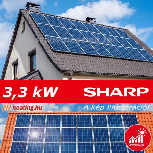 3,3 kW-os napelem rendszer 139 000 Ft/év hozammal.