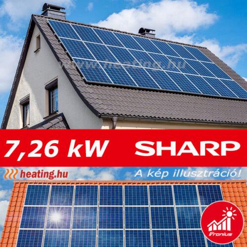 7,26 kW-os napelem rendszer 320 000 Ft/év hozammal.