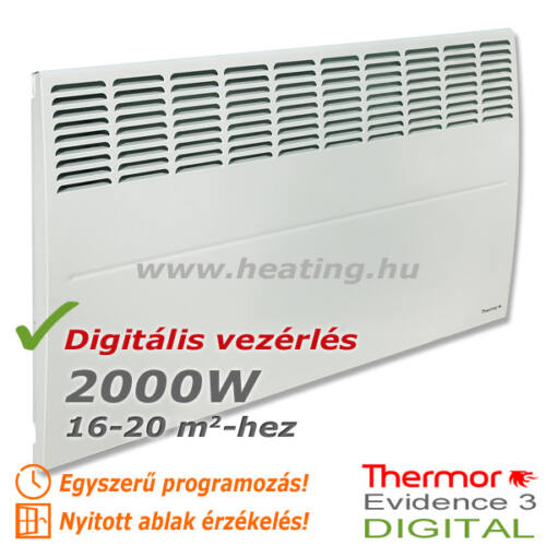 Evidence 3 DIGITAL HD elektromos radiátor 2000 W