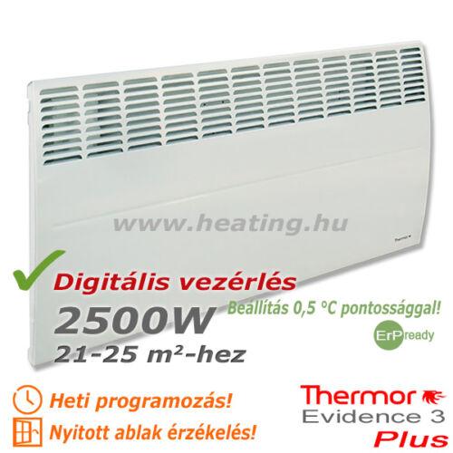 Az Evidence 3 Plus 2500 W-os elektromos radiátor a nagy alapterületű helyiségek energiatakarékos fűtőkészüléke.