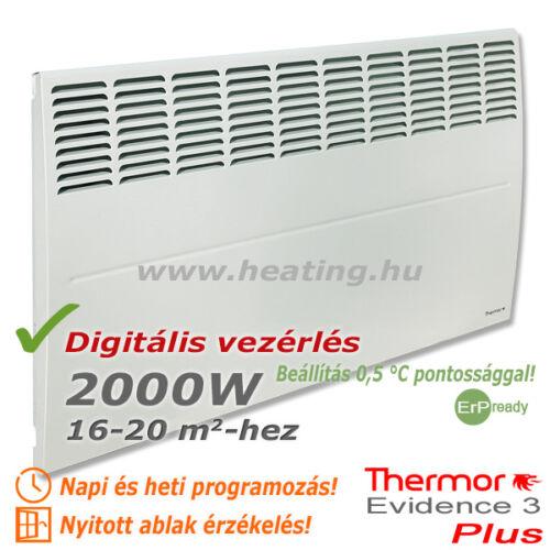 Az Evidence 3 2000 W Plus elektromos radiátor az átlagos méretű szobák energiatakarékos fűtőkészüléke.