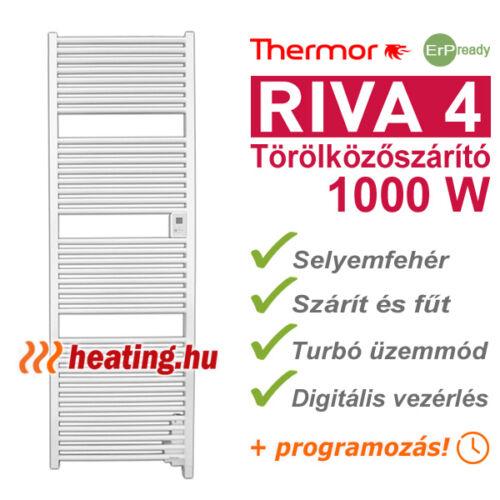 Az 1000 W-os Riva 4 törölközőszárító elektromos radiátor kiváló fűtés is egyben.
