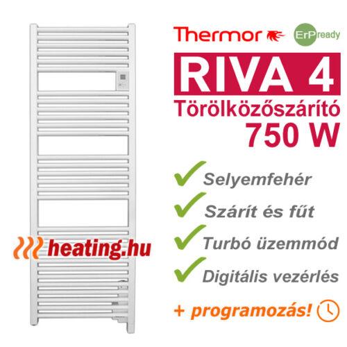 Riva 4 - elektromos törölközőszárító 750 W