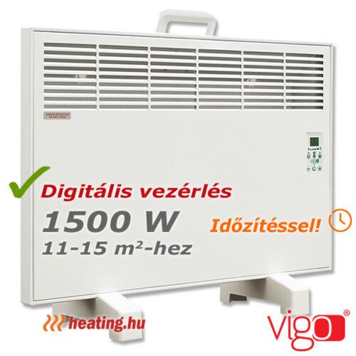1500 W teljesítményű mobil Vigo elektromos fűtőpanel.