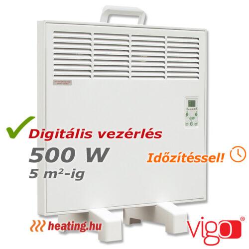 Vigo digitális hordozható fűtőpanel 500 W teljesítménnyel.l