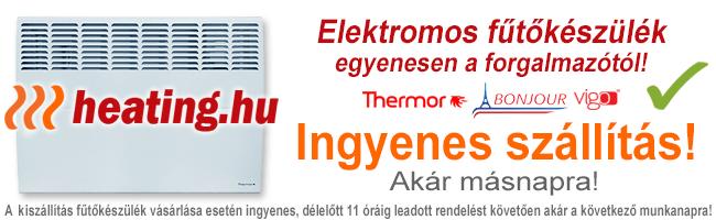 Elektromos fűtés - radiátor és törölközőszárító a heating.hu webáruházból